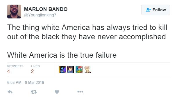 White America is the true failure